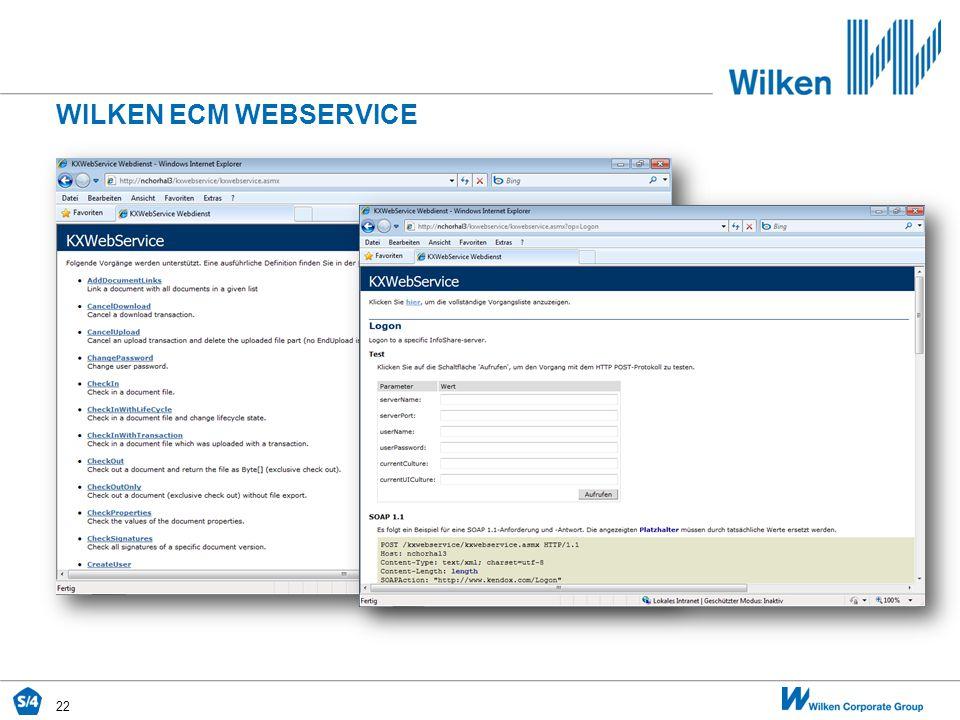 22 WILKEN ECM WEBSERVICE