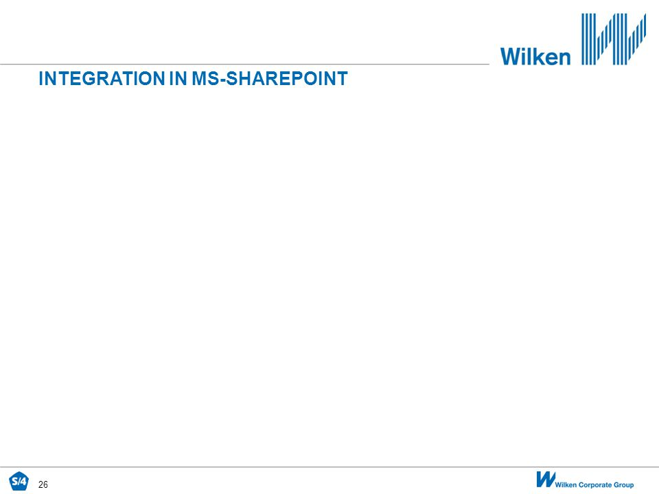 26 INTEGRATION IN MS-SHAREPOINT