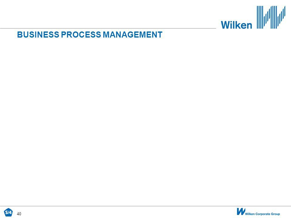 40 BUSINESS PROCESS MANAGEMENT