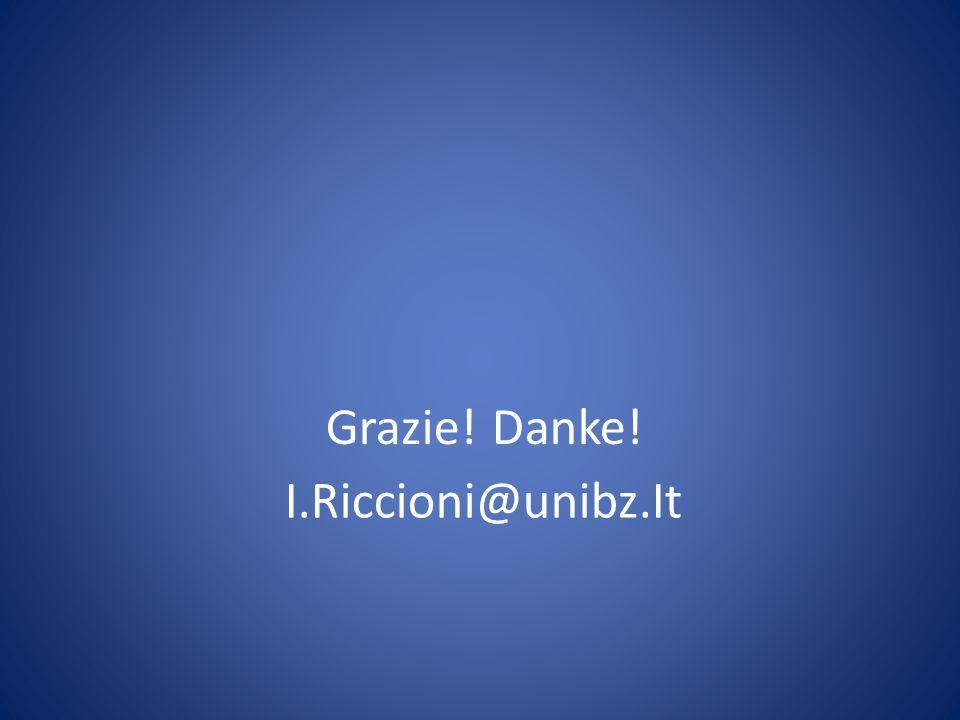 I.Riccioni@unibz.It Grazie! Danke!