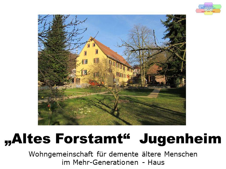 """Das """"Alte Forstamt , erbaut 1552.Im Ortskern Jugenheim auf einem Areal von ca."""