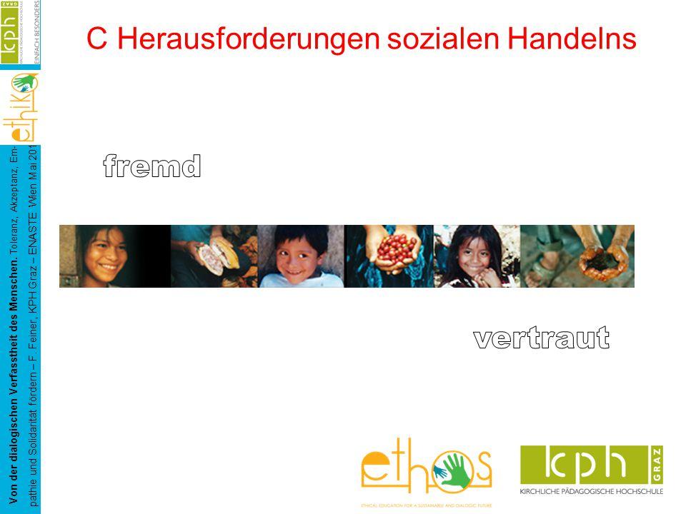 Von der dialogischen Verfasstheit des Menschen. Toleranz, Akzeptanz, Em- pathie und Solidarität fördern – F. Feiner, KPH Graz – ENASTE Wien Mai 2015