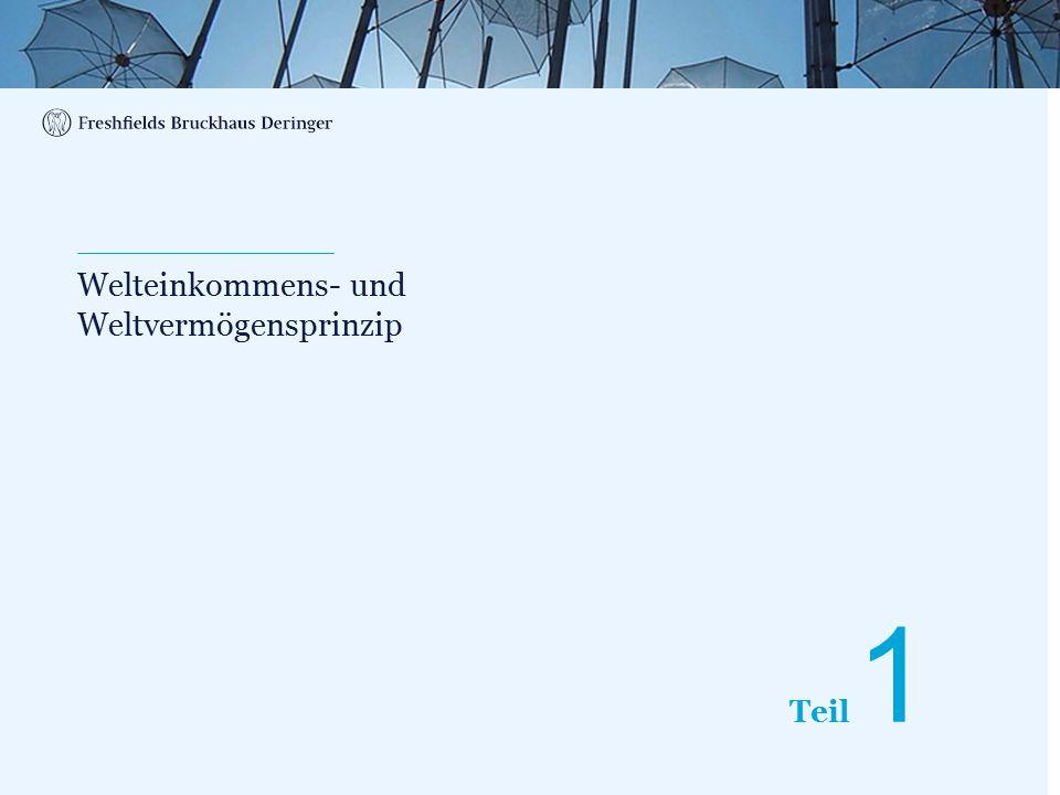 Print slide Grundprinzipien des internationalen Steuerrechts Wohnsitzprinzip i.V.m.