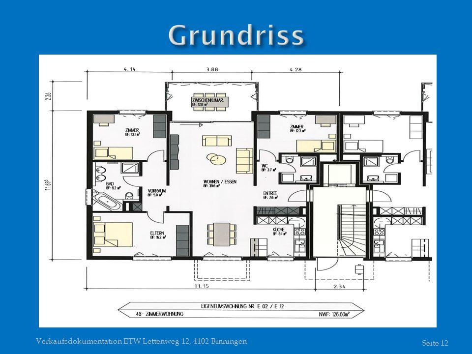 Verkaufsdokumentation ETW Lettenweg 12, 4102 Binningen Seite 12