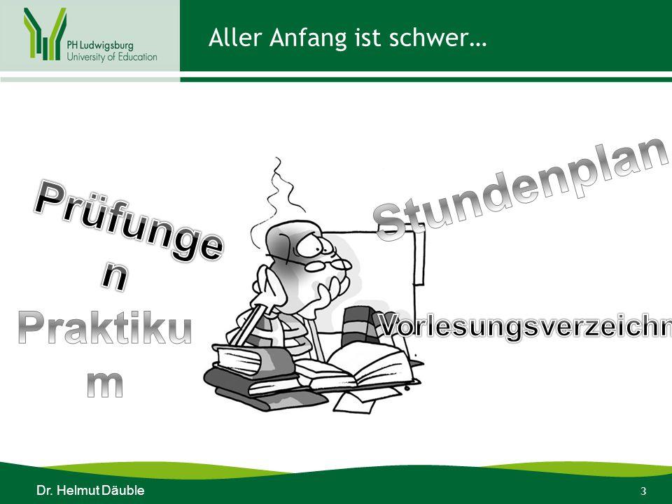 4 LehrerIn sein ist nicht einfach…. Dr. Helmut Däuble