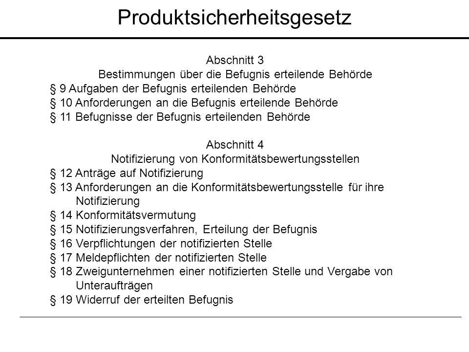 Abschnitt 3 Bestimmungen über die Befugnis erteilende Behörde § 9 Aufgaben der Befugnis erteilenden Behörde § 10 Anforderungen an die Befugnis erteile
