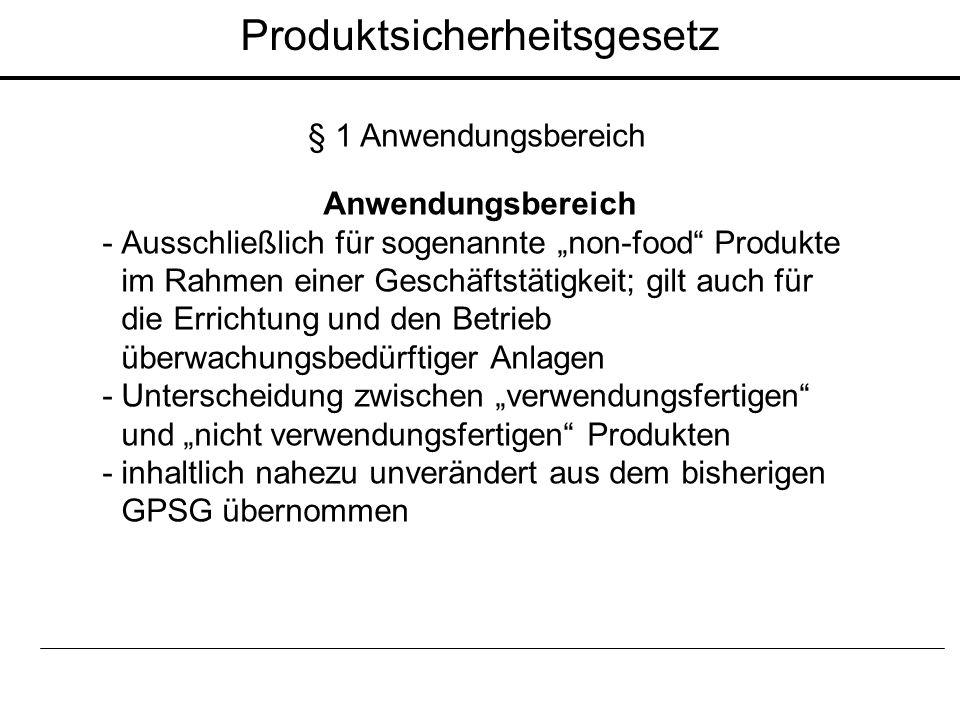 """Anwendungsbereich -Ausschließlich für sogenannte """"non-food"""" Produkte im Rahmen einer Geschäftstätigkeit; gilt auch für die Errichtung und den Betrieb"""