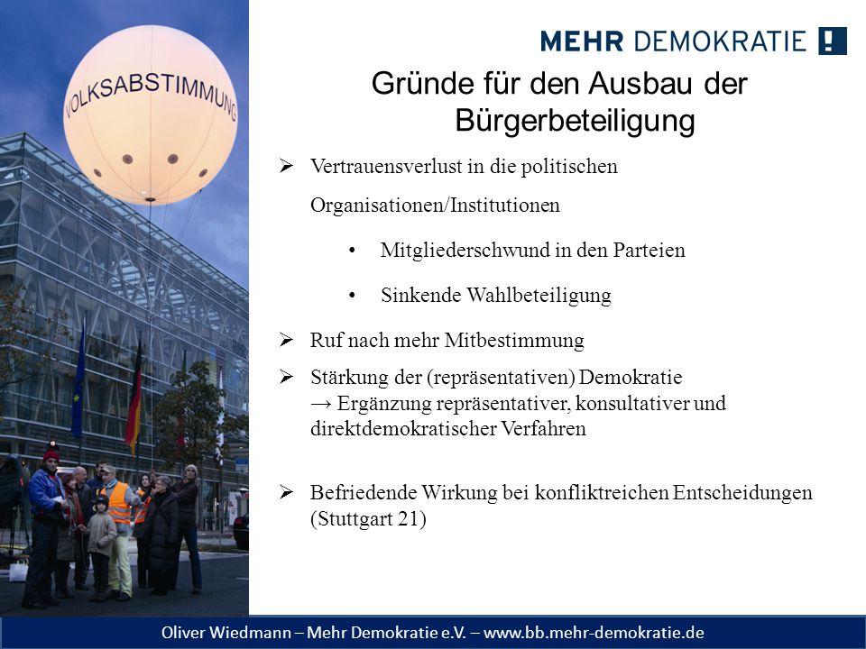 Oliver Wiedmann – Mehr Demokratie e.V.– www.bb.mehr-demokratie.de Begriffsklärung 1.