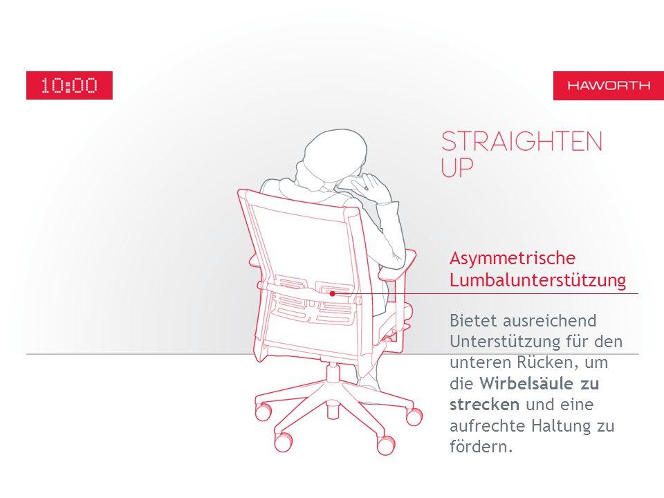 Bietet ausreichend Unterstützung für den unteren Rücken, um die Wirbelsäule zu strecken und eine aufrechte Haltung zu fördern.
