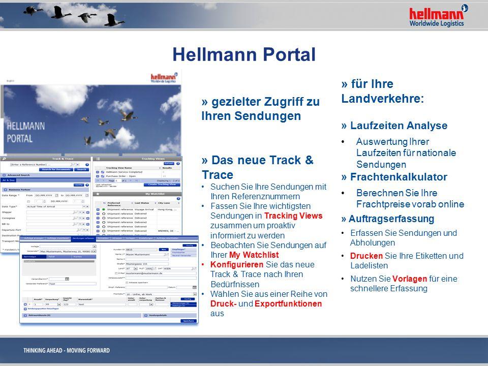 Hellmann Portal » für Ihre Luft- u.