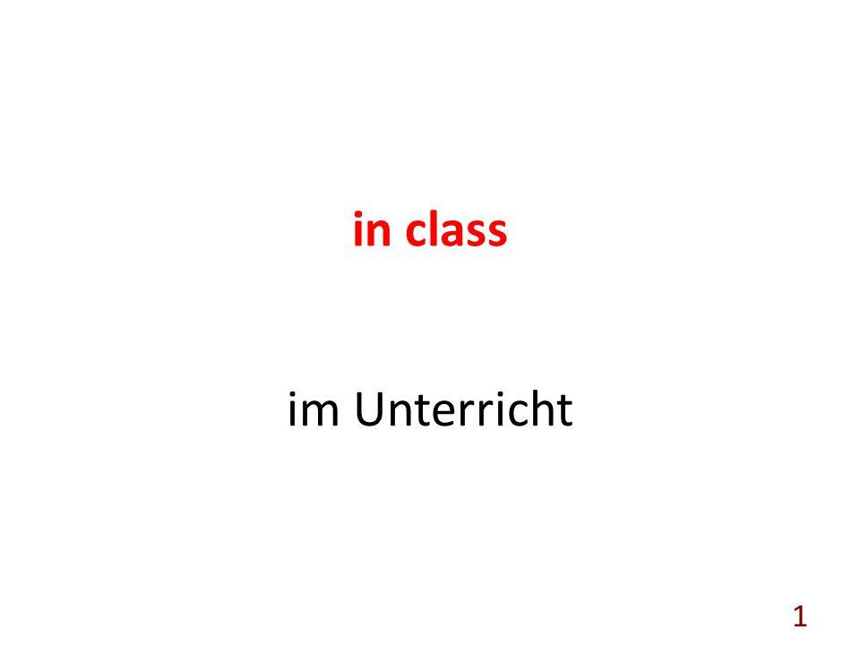 in class im Unterricht 1
