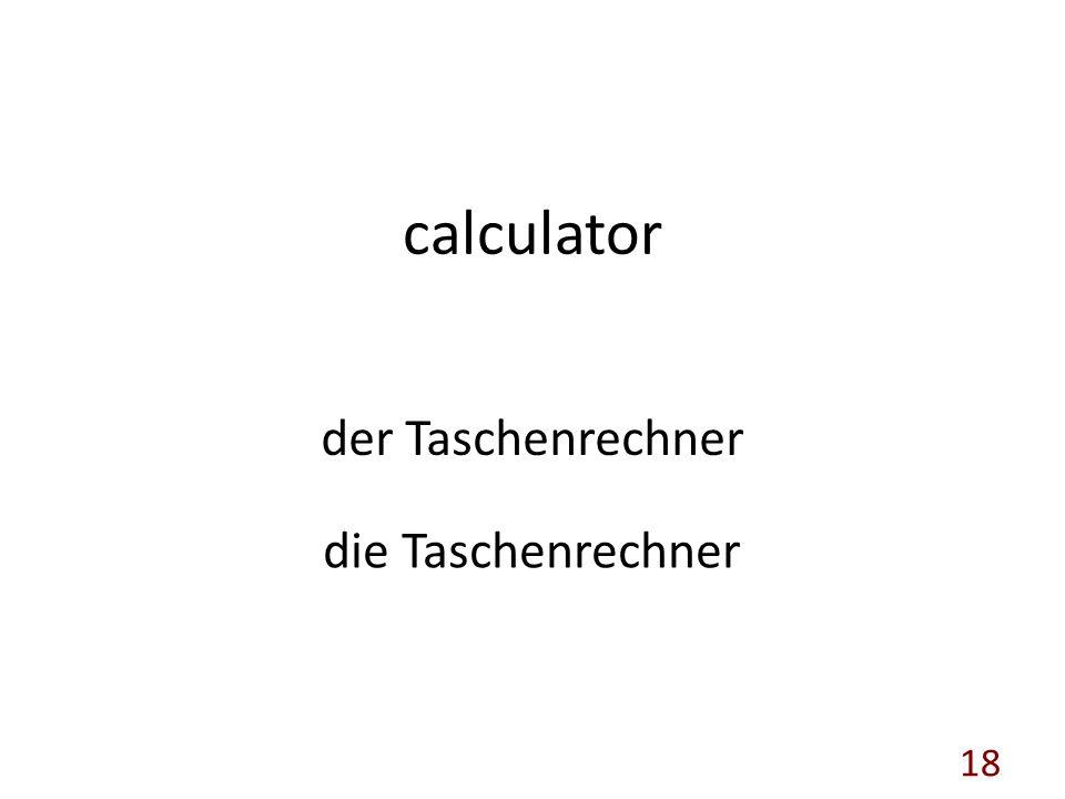 calculator der Taschenrechner die Taschenrechner 18