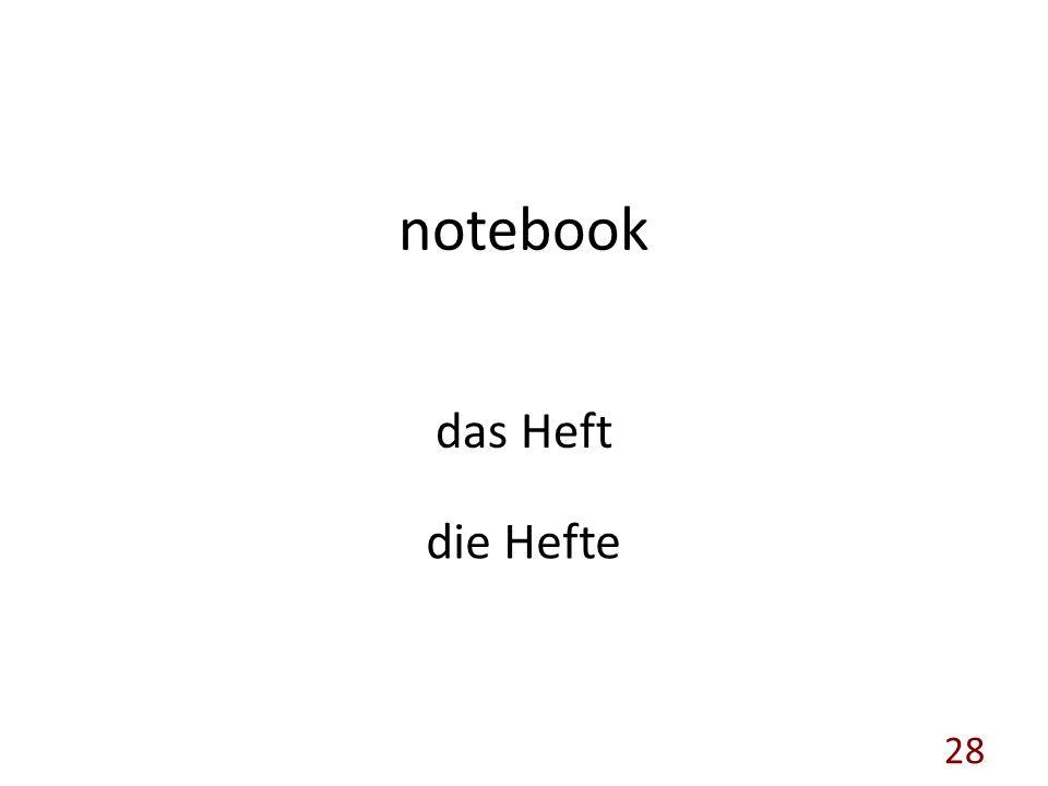 notebook das Heft die Hefte 28