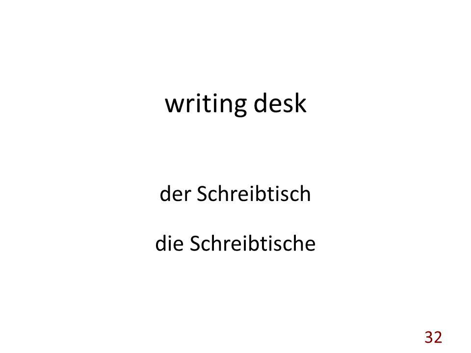 writing desk der Schreibtisch die Schreibtische 32