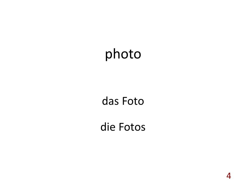 photo das Foto die Fotos 4