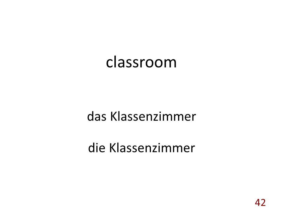classroom das Klassenzimmer die Klassenzimmer 42