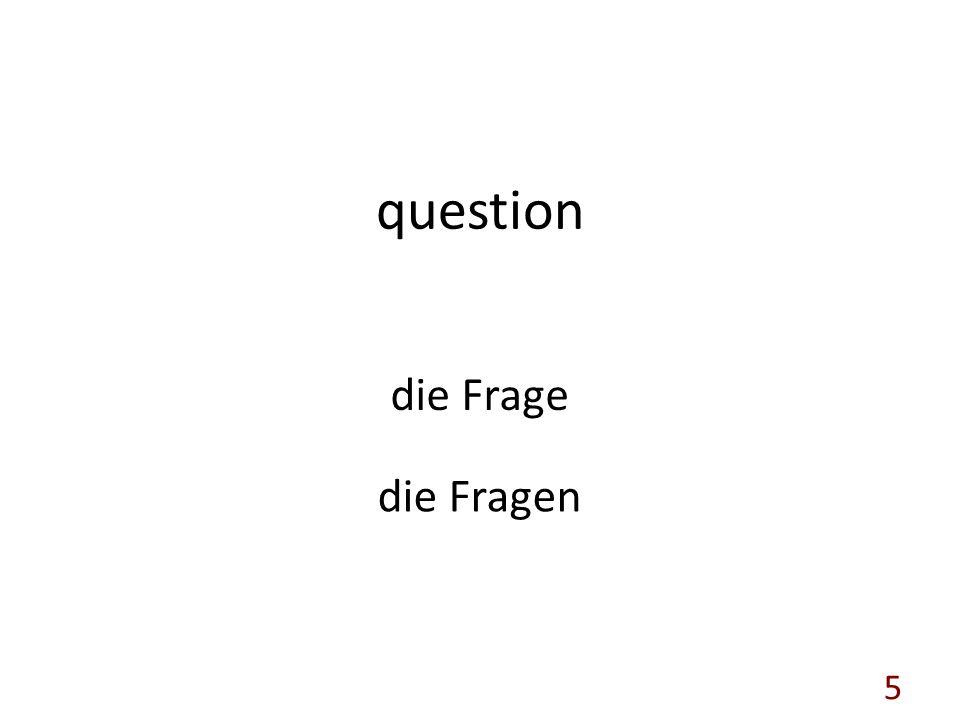 question die Frage die Fragen 5