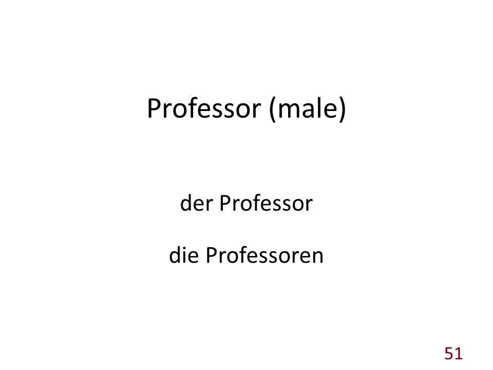 Professor (male) der Professor die Professoren 51