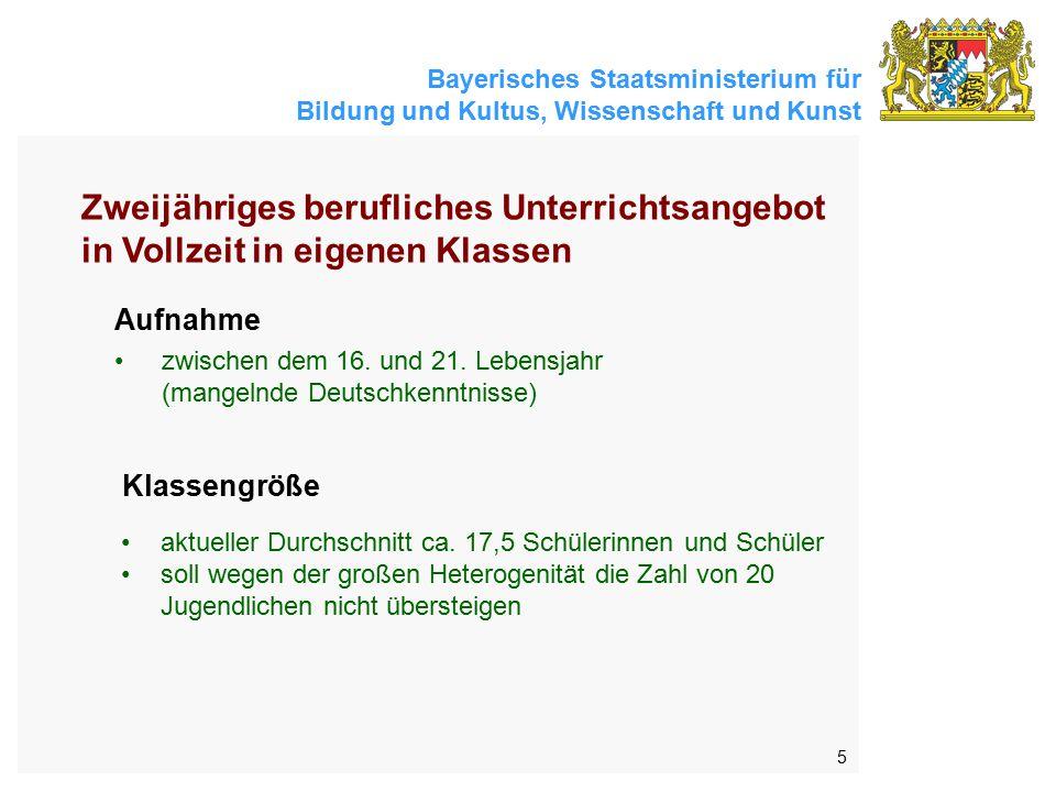 Bayerisches Staatsministerium für Bildung und Kultus, Wissenschaft und Kunst 5 Aufnahme zwischen dem 16.
