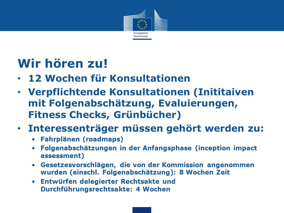 Territoriale Folgenabschätzung Arbeitsunterlage SWD(2013)3 vom 17.1.2013: assessing territorial impacts: Operational guidance on how wo assess regional and local impacts within the Commission Impact Assessment System Neue Richtlinien zur Folgenabschätzung SWD(2015)111 vom 19.5.2015 (S.