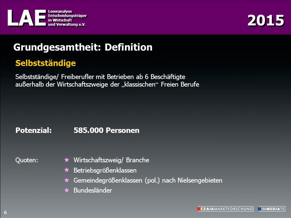 2015 LAE Leseranalyse Entscheidungsträger in Wirtschaft und Verwaltung e.V.