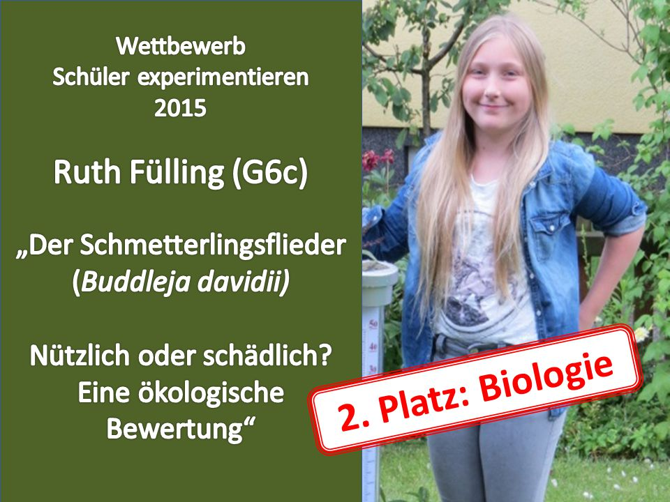 2. Platz: Biologie