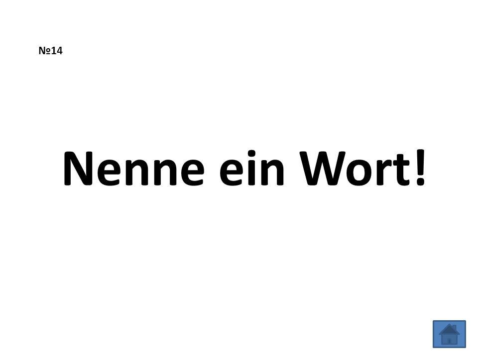 №14 Nenne ein Wort!