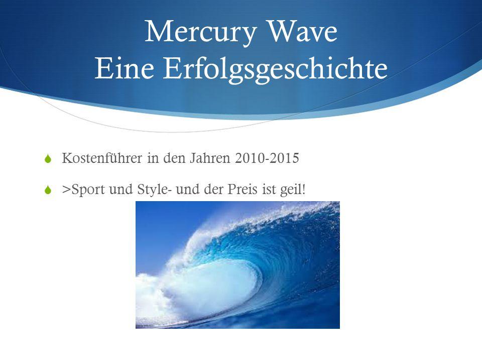Mercury Wave Eine Erfolgsgeschichte  Kostenführer in den Jahren 2010-2015  >Sport und Style- und der Preis ist geil!