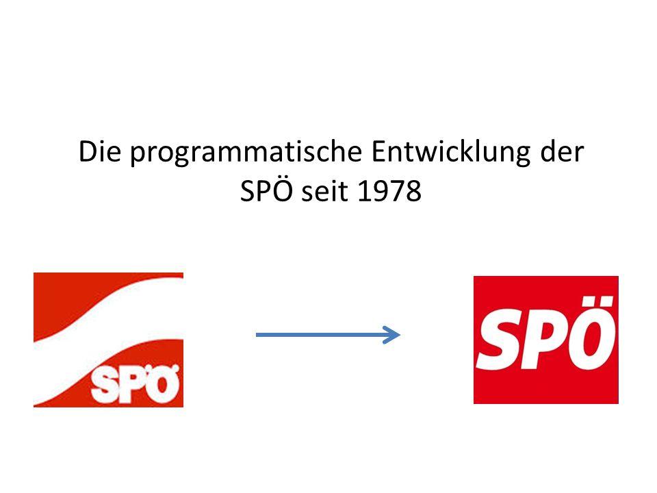 Die programmatische Entwicklung der SPÖ seit 1978