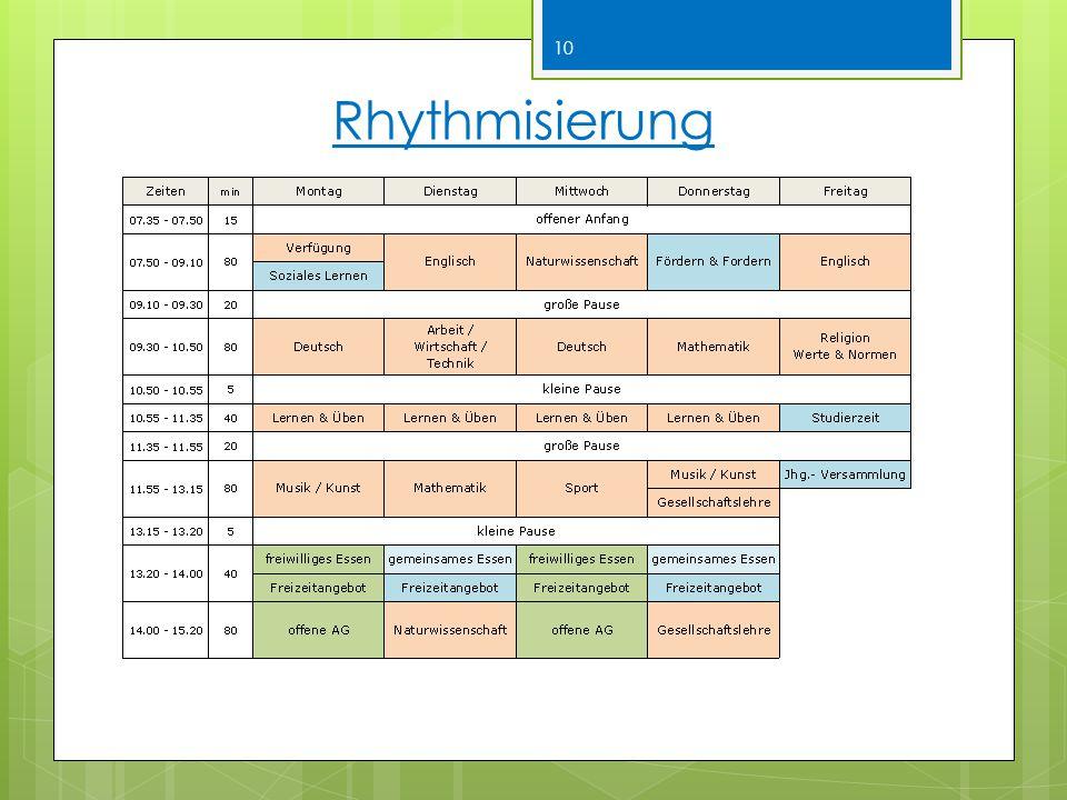 Rhythmisierung 10