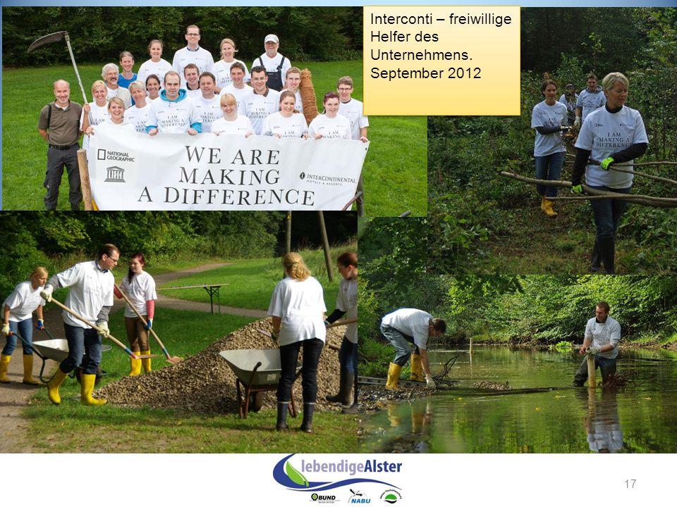 17 Interconti – freiwillige Helfer des Unternehmens. September 2012 Interconti – freiwillige Helfer des Unternehmens. September 2012
