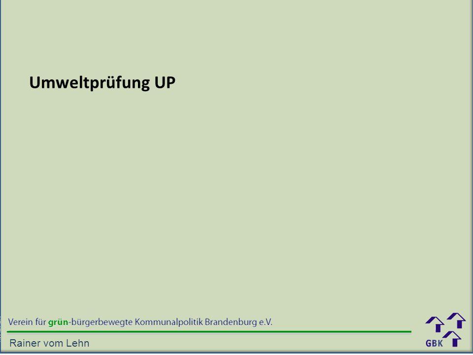 Umweltprüfung UP Rainer vom Lehn