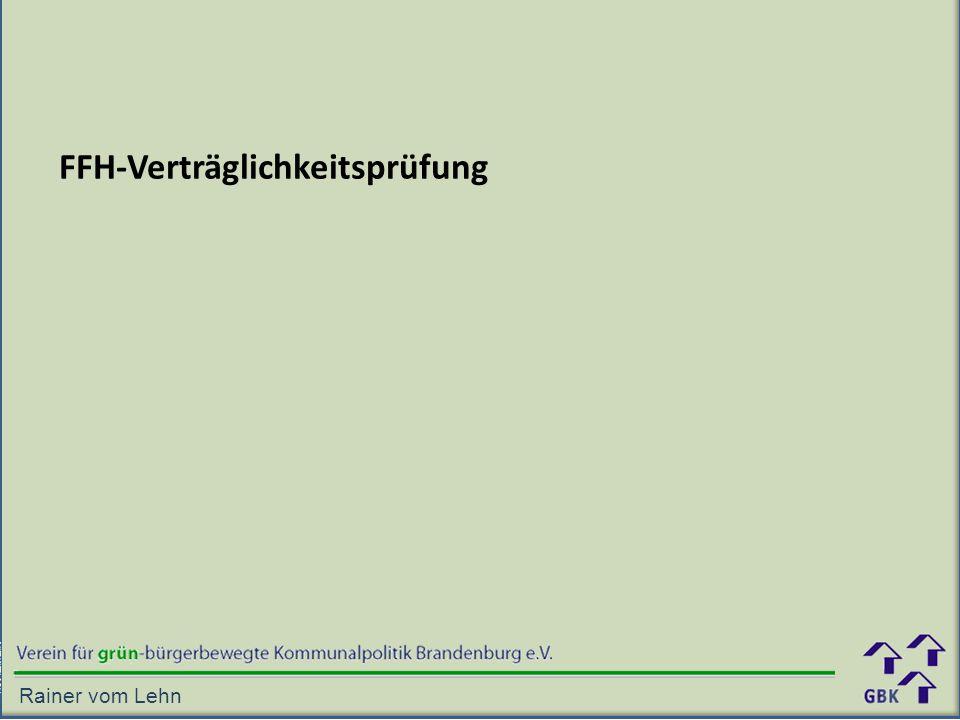 FFH-Verträglichkeitsprüfung Rainer vom Lehn