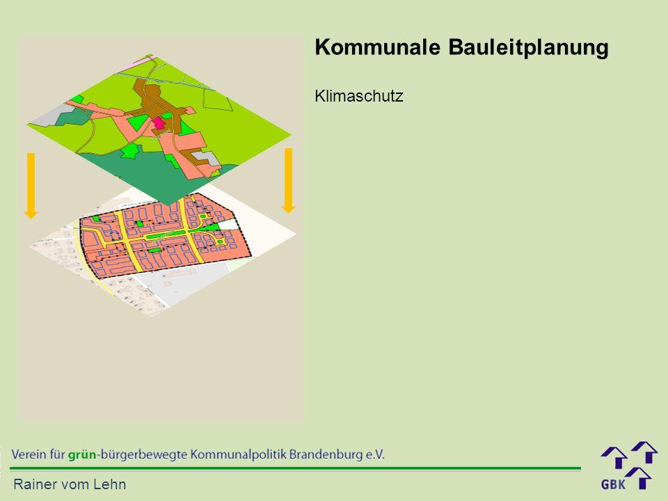 Kommunale Bauleitplanung Klimaschutz
