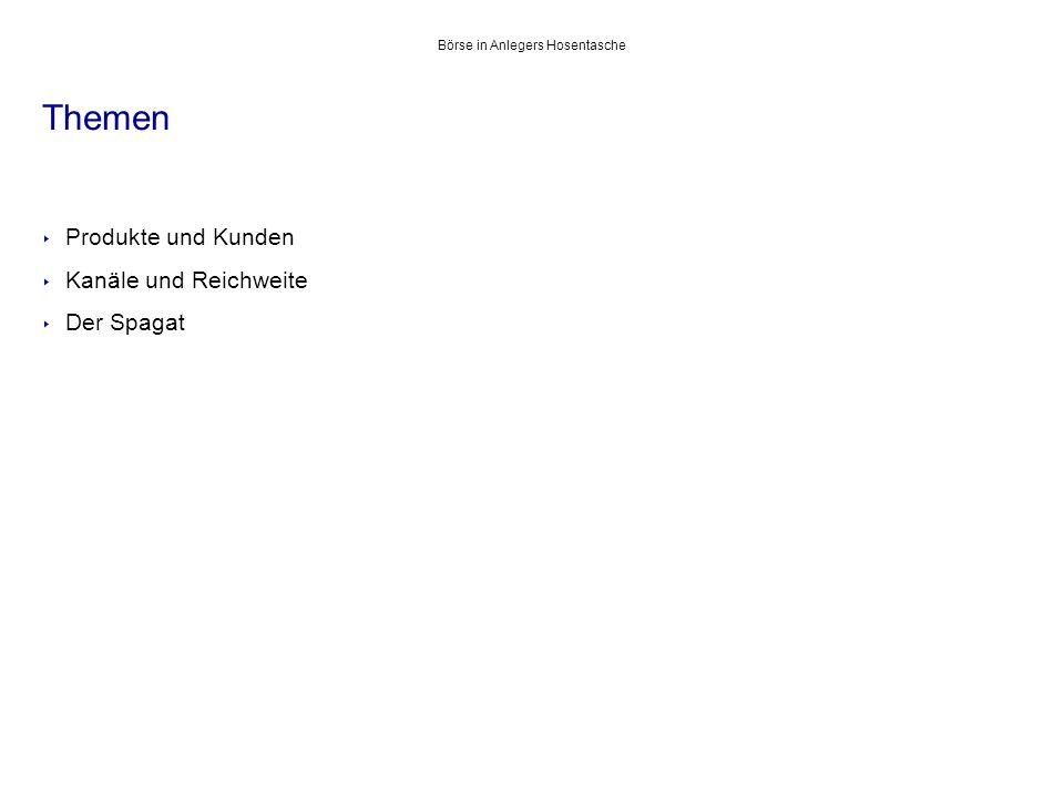 boerse-frankfurt.de virtuelles Schaufenster der Frankfurter Börse Börse in Anlegers Hosentasche