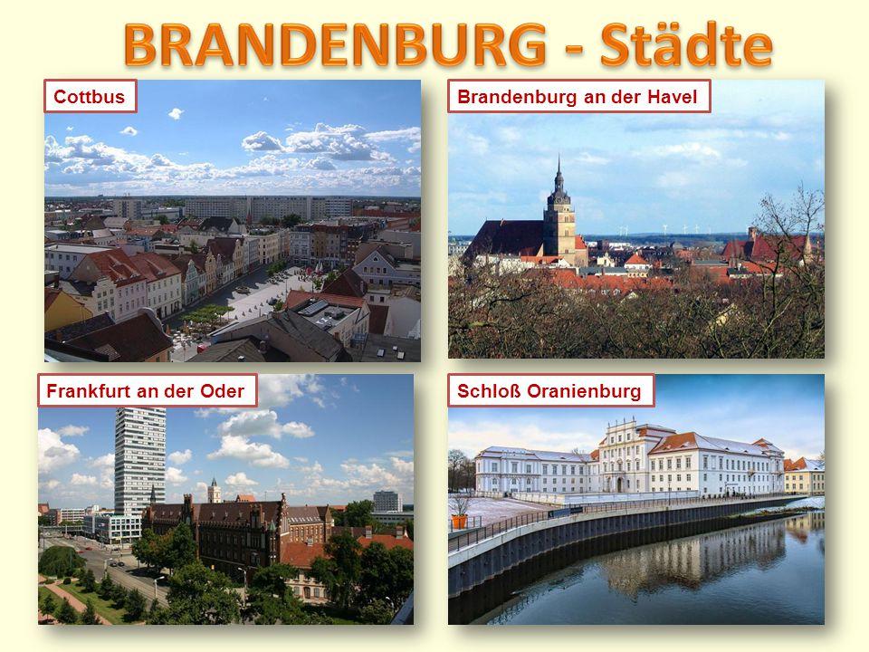 Brandenburg an der HavelCottbusFrankfurt an der OderSchloß Oranienburg