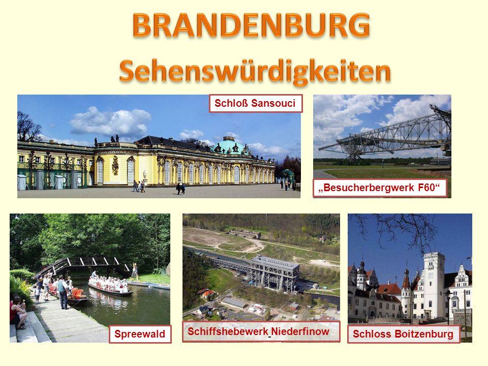 """Schiffshebewerk Niederfinow Spreewald Schloß Sansouci """"Besucherbergwerk F60"""" Schloss Boitzenburg"""