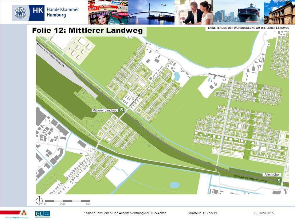 Infrastruktur Standpunkt Leben und Arbeiten entlang der Bille-AchseChart-Nr. 12 von 19 25. Juni 2015 Folie 12: Mittlerer Landweg