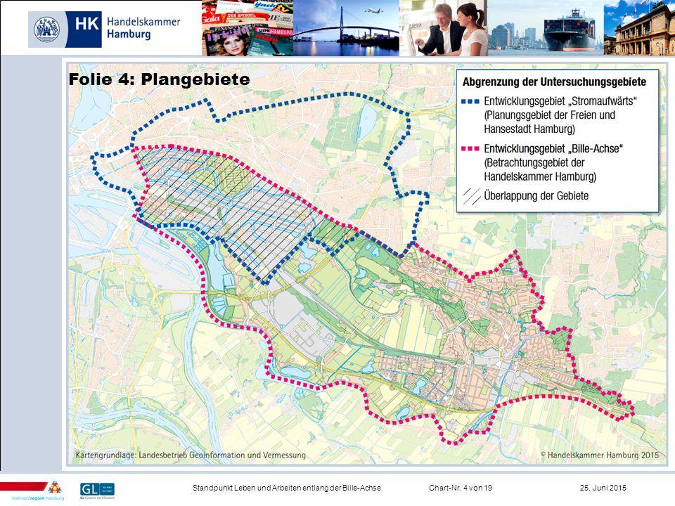 Infrastruktur Standpunkt Leben und Arbeiten entlang der Bille-AchseChart-Nr. 4 von 19 25. Juni 2015 Folie 4: Plangebiete