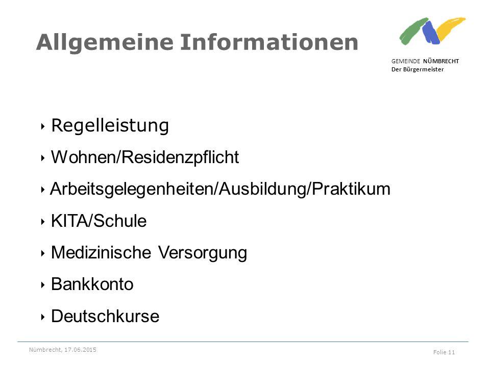 ‣ Regelleistung ‣ Wohnen/Residenzpflicht ‣ Arbeitsgelegenheiten/Ausbildung/Praktikum ‣ KITA/Schule ‣ Medizinische Versorgung ‣ Bankkonto ‣ Deutschkurs