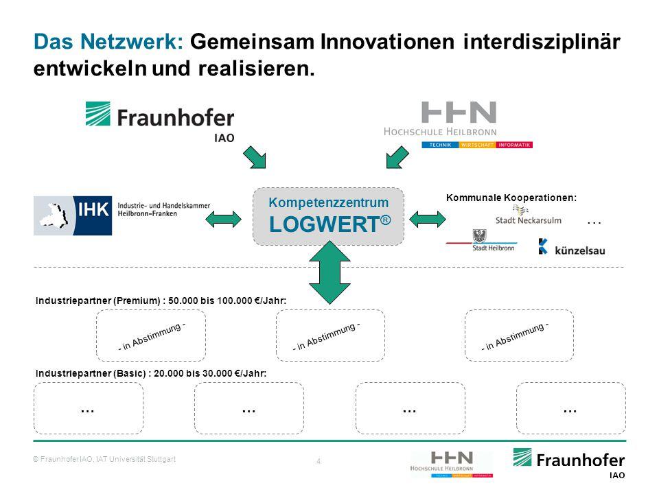 © Fraunhofer IAO, IAT Universität Stuttgart 4 Das Netzwerk: Gemeinsam Innovationen interdisziplinär entwickeln und realisieren. ………… Kompetenzzentrum