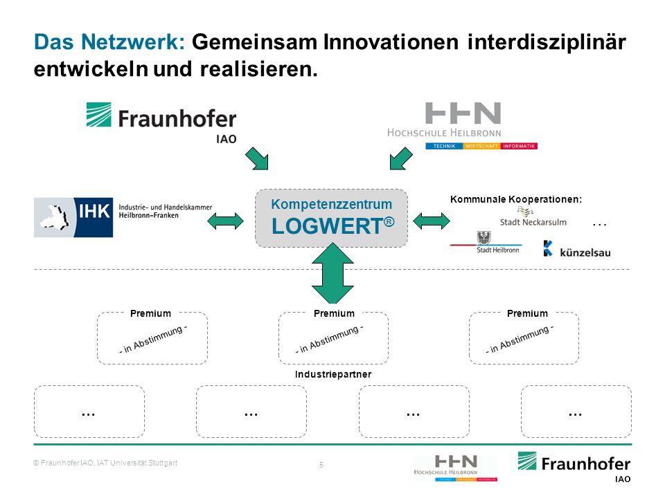 © Fraunhofer IAO, IAT Universität Stuttgart 5 Das Netzwerk: Gemeinsam Innovationen interdisziplinär entwickeln und realisieren. ………… Kompetenzzentrum