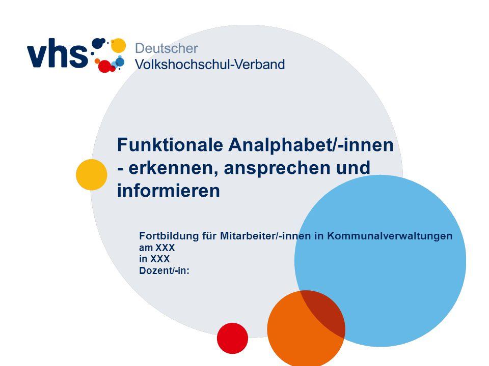 """2 Vorstellungsrunde 1.Was haben Sie bisher vom Thema """"funktionaler Analphabetismus in Deutschland gehört."""
