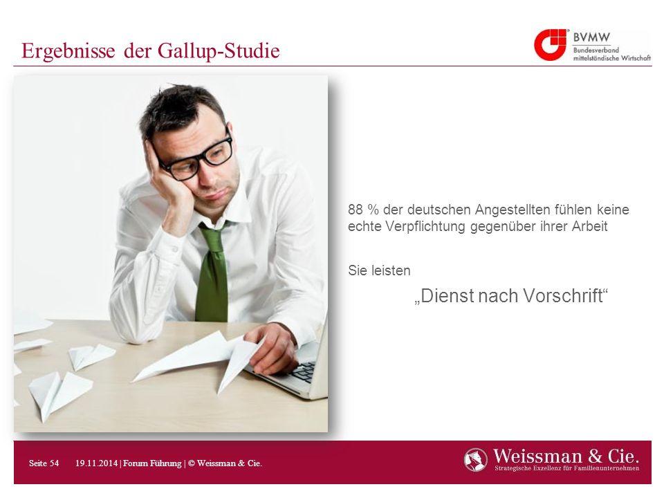 """Ergebnisse der Gallup-Studie 88 % der deutschen Angestellten fühlen keine echte Verpflichtung gegenüber ihrer Arbeit Sie leisten """"Dienst nach Vorschri"""