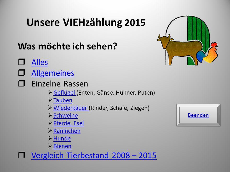  Beteiligung: 100 %  Gesamtzahl Tiere: 7.536 (inländische Nutztier-Archen)  Berücksichtigt wurden alle Rassen, die auf http://www.vieh-ev.de/index.php?section=rassen gelistet sind http://www.vieh-ev.de/index.php?section=rassen  Leider konnten nicht bei allen Rassen mit verschiedenen Farbschlägen Auswertungen vorgenommen werden, da einige Nutztier-Archen wieder sehr ungenau gemeldet haben 2
