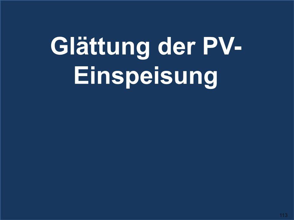 113 Glättung der PV- Einspeisung