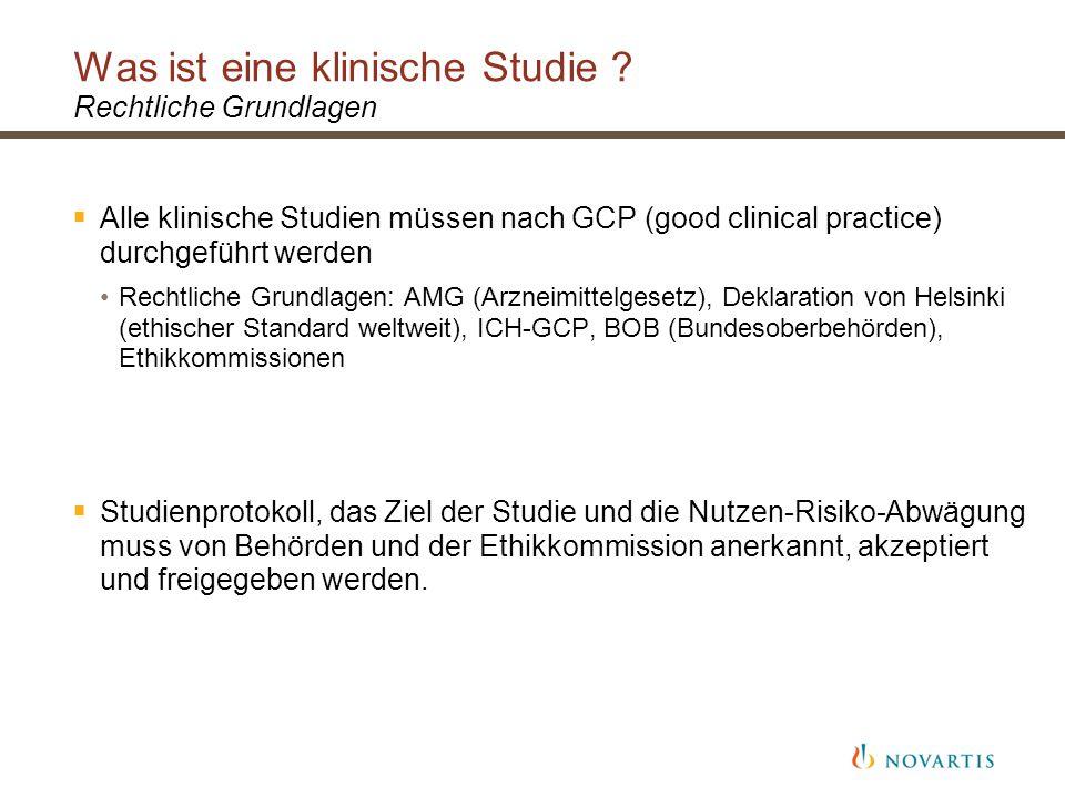 Was ist eine klinische Studie .