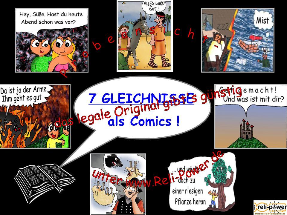7 GLEICHNISSE als Comics !