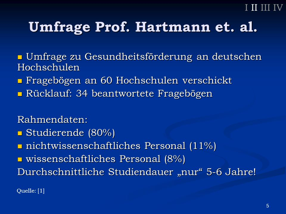 5 Umfrage Prof. Hartmann et. al.
