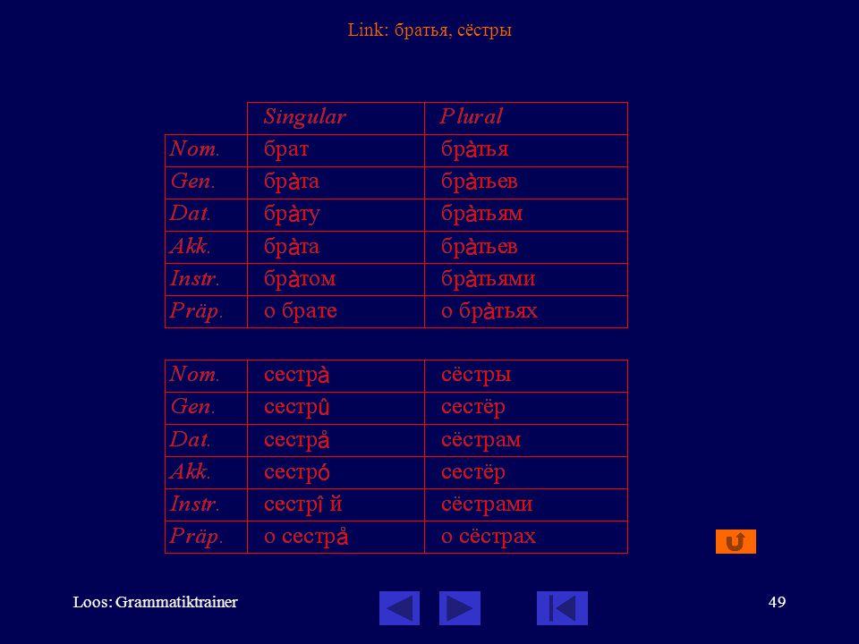 Loos: Grammatiktrainer49 Link: братья, сёстры